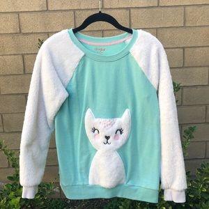 Cat & Jack fuzzy cat sweatshirt